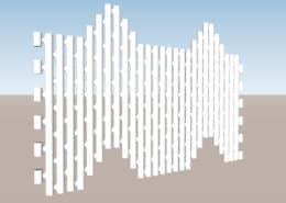 Mur pyramidale module Link