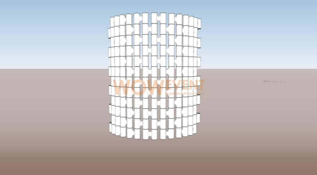 Mur courbé par Module Link