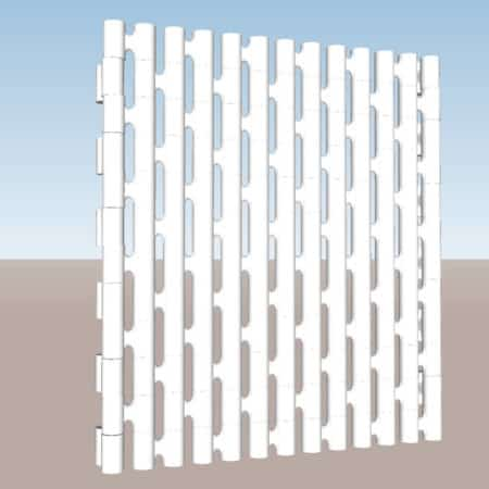 Mur droit module Link