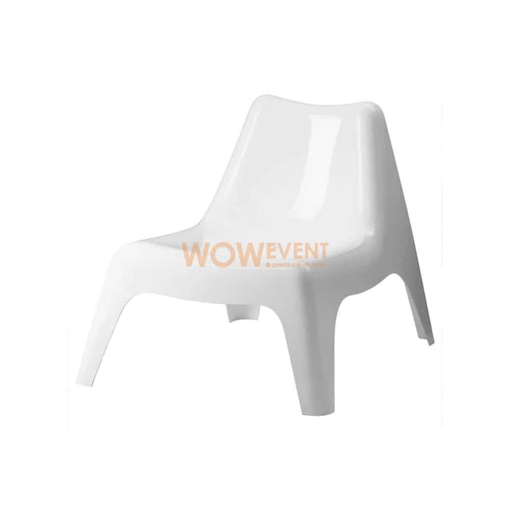 Fauteuil club blanc design et lounge | LISBONNE