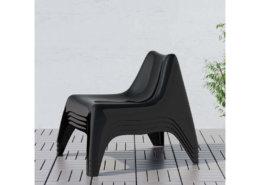 Fauteuil club noir indoor / outdoor design et lounge