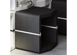 Pouf U-Cube noir raccord blanc | STOCKHOLM