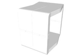 Pouf U-Cube blanc | STOCKHOLM