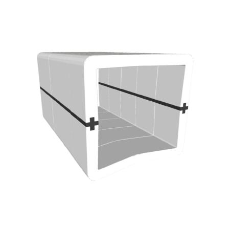 Banquette U-Cube blanc raccord noir | COPENHAGUE