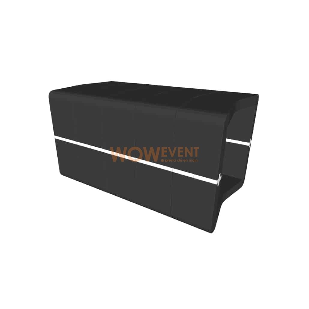 Banquette U-Cube noir raccord blanc | COPENHAGUE