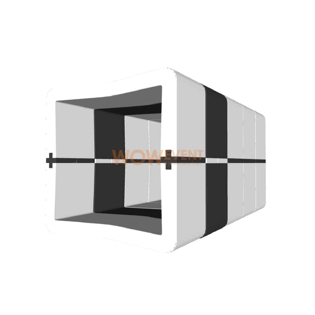Banquette U-Cube blanc chevron noir à raccord | COPENHAGUE