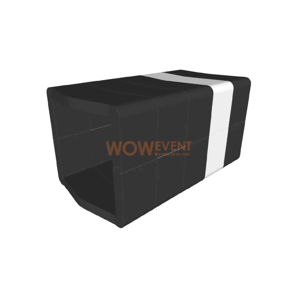 Banquette U-Cube noir chevron blanc | COPENHAGUE