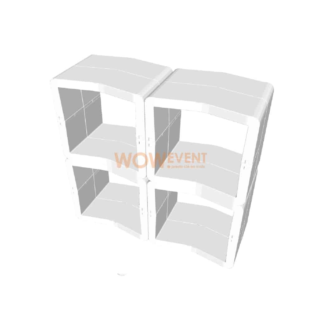 Banque ouverte U-Cube blanc | LONDRES