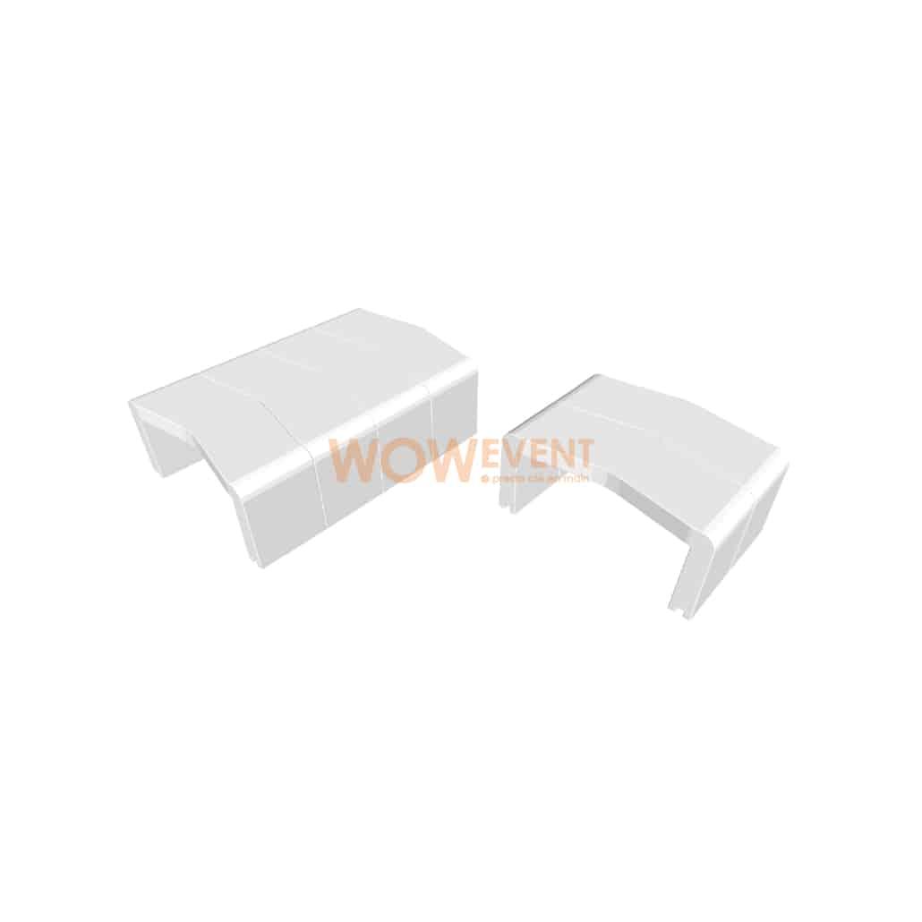 Table basse U-Cube blanc | HELSINKI
