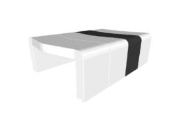 Table basse U-Cube blanc chevron noir | HELSINKI