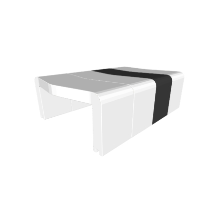 Table basse U-Cube blanc chevron noir | HELSINKI