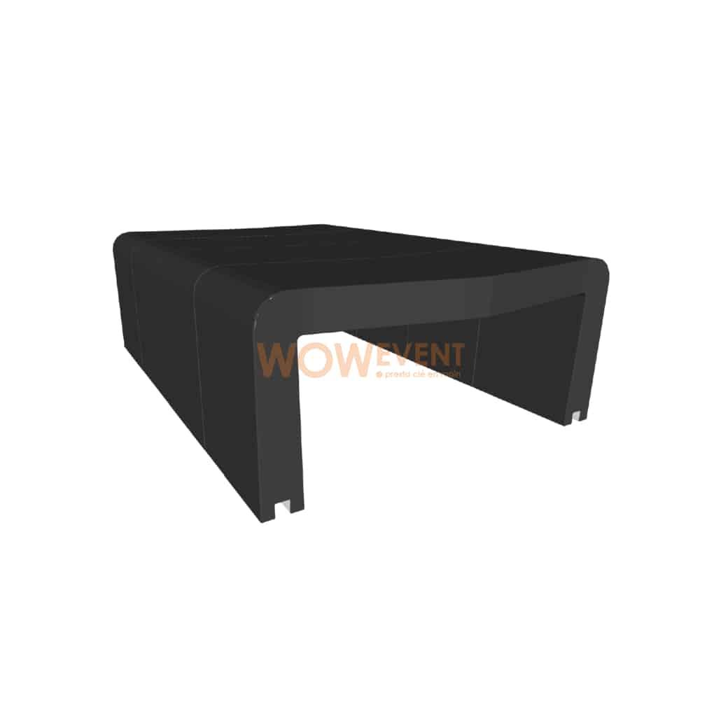 Table basse U-Cube noir   HELSINKI