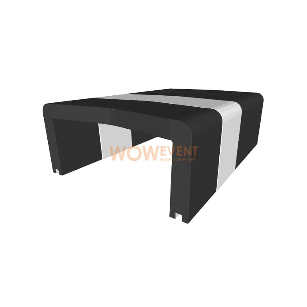 Table basse U-Cube noir chevron blanc | HELSINKI