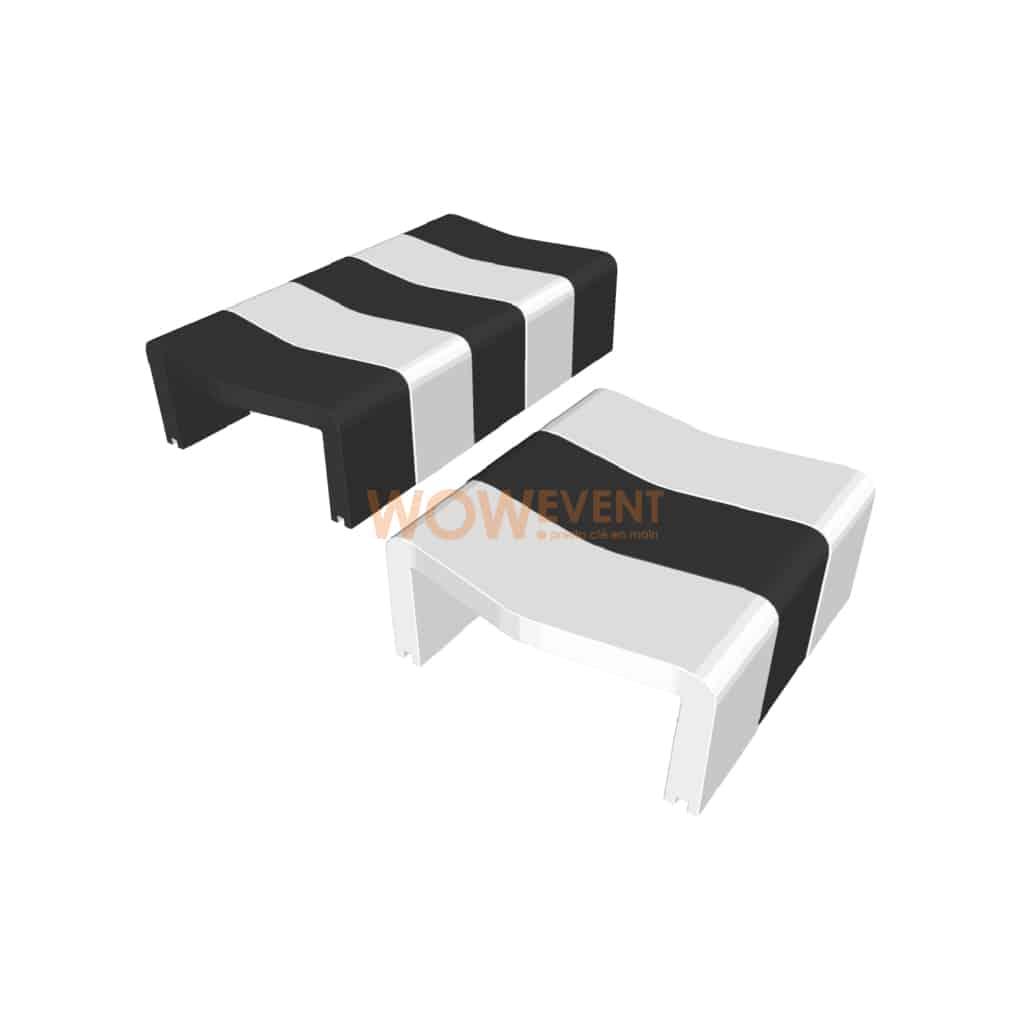 Table basse U-Cube zébrée   HELSINKI