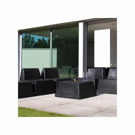 Fauteuil lounge noir intérieur extérieur | MONACO