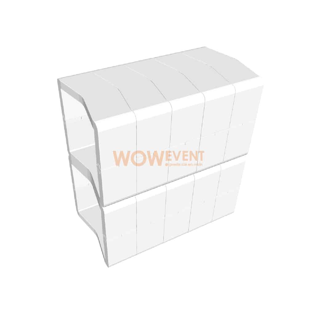 Banque accueil pleine U-Cube blanc