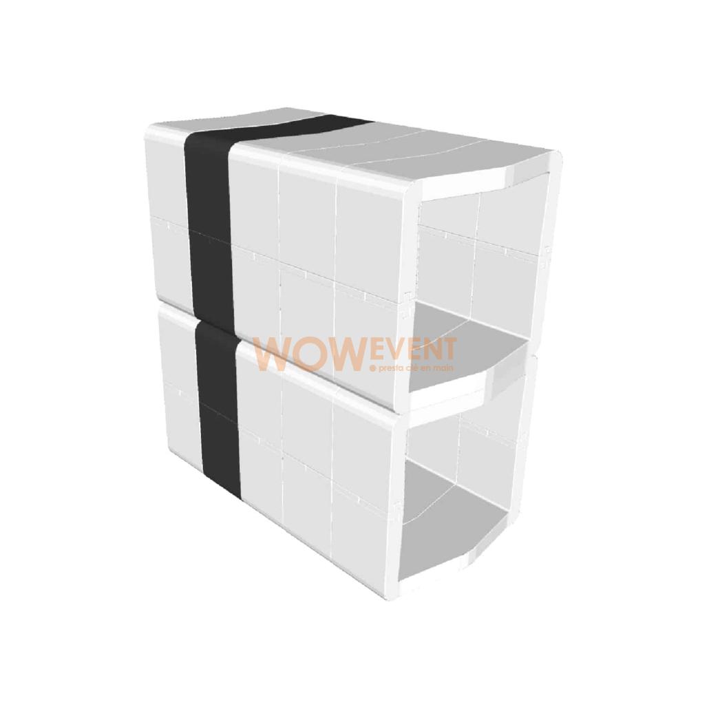 Desk plein U-Cube blanc scapulaire noir | DUBLIN
