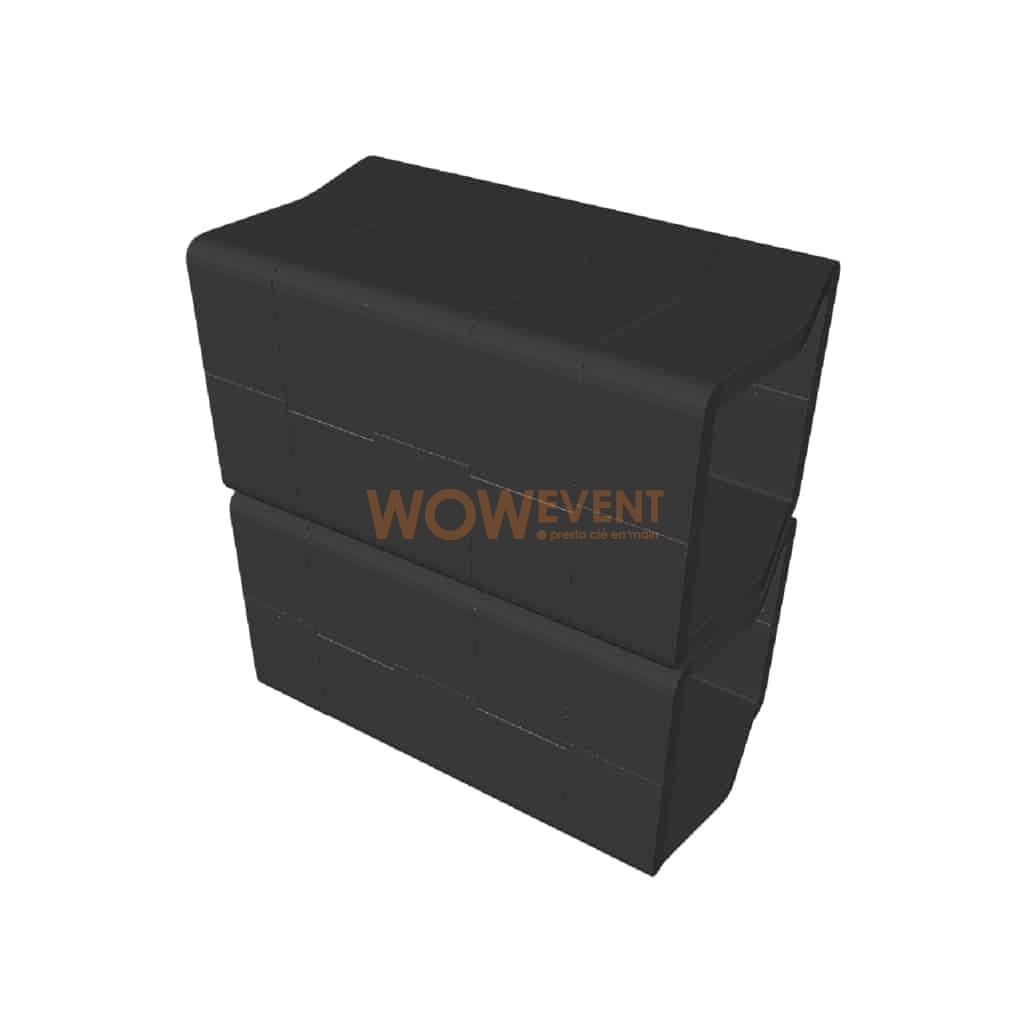 Desk plein U-Cube noir