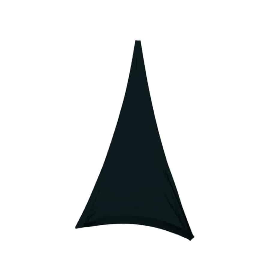 Triangle voile en lycra noir   ATHÈNES
