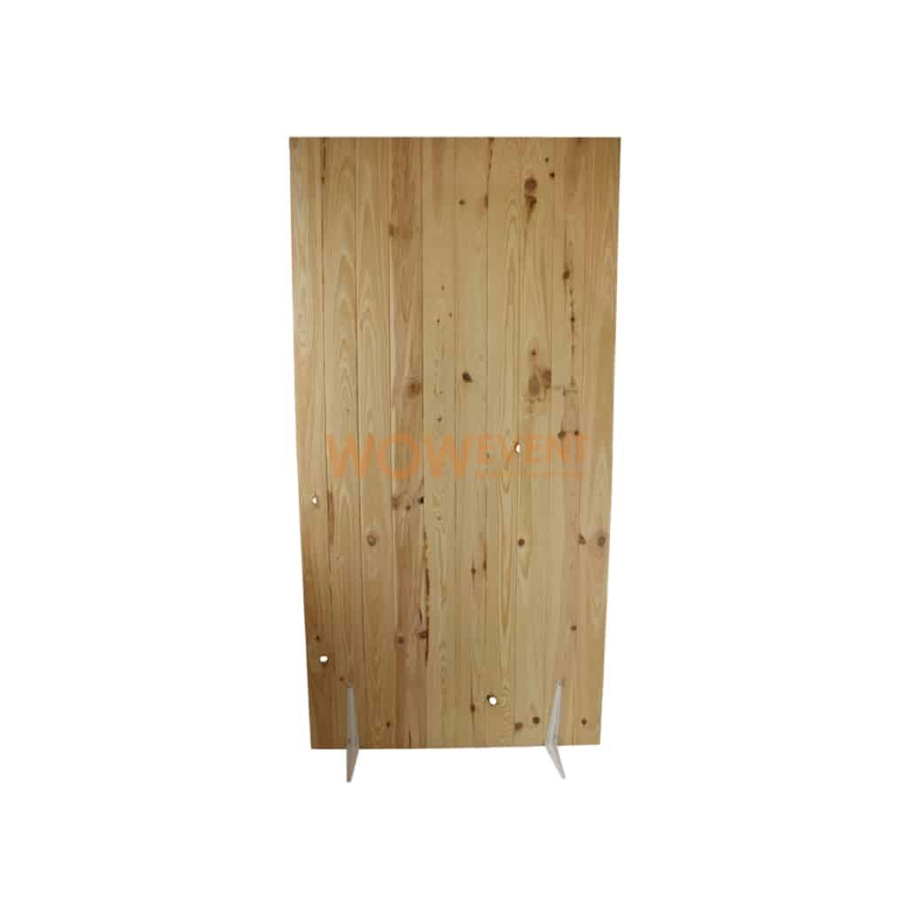 Cloison mobile sur pied en lambris bois