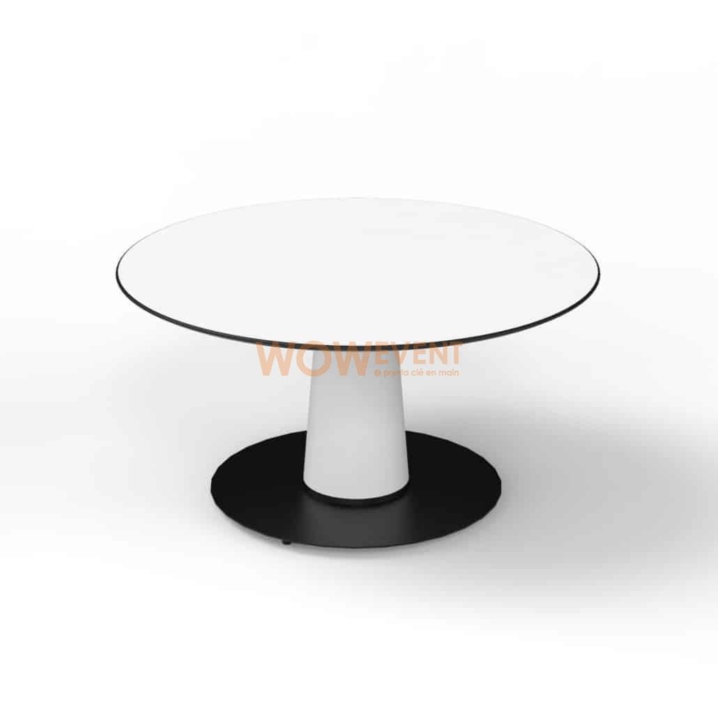Table lounge évasée blanche