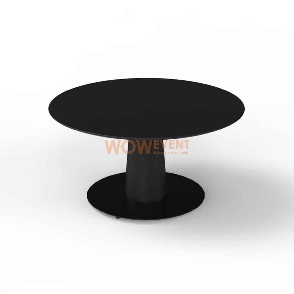 Table basse évasée noire
